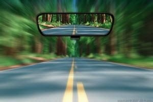 rear-view-mirror - looking back to move forward