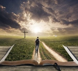 walking on path - guided by the bible