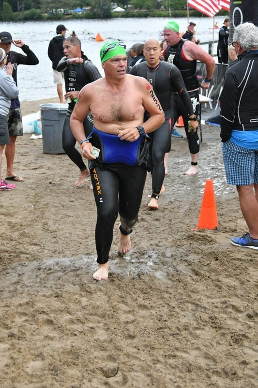 IRONMAN Lake Placid - Swim - exit
