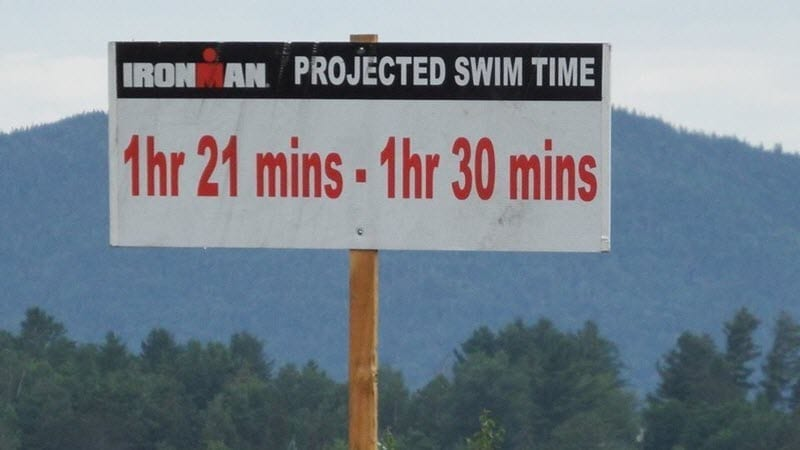 IRONMAN Lake Placid - Swim - line up